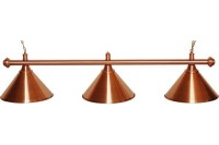 Billardlampe, Elegance, bronze, 3 Schirme, Ø 35 cm, 112 cm
