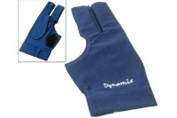 Glove Dynamic Deluxe 2, 3-finger, open, blue, Lycra, leather patch