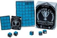 Billard-Kreide, Silver Cup, Dynamic Edition, blau, 144er Pack