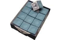 Billard-Kreide, Silver Cup, puderblau, 12er Pack
