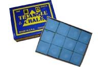 Billard-Kreide, Triangle, blau, 12er Pack