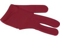 Handschuh, Dynamic Deluxe, 3-Finger, burgund/rot
