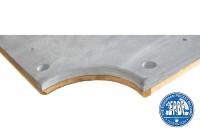 Schieferplatte Made in Italy, 9 ft. (Fuß), 28 mm, Holzrahmen, dreiteilig