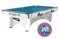 Billiard Table Dynamic III, 9 ft., shining white, Pool