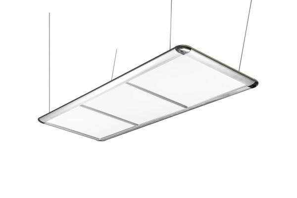 Billardlampe, LED Flat, silber, 195 x 70 x 6,5 cm