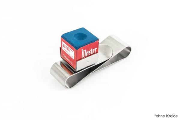 Kreidehalter, Magnet, aus Metall, silber